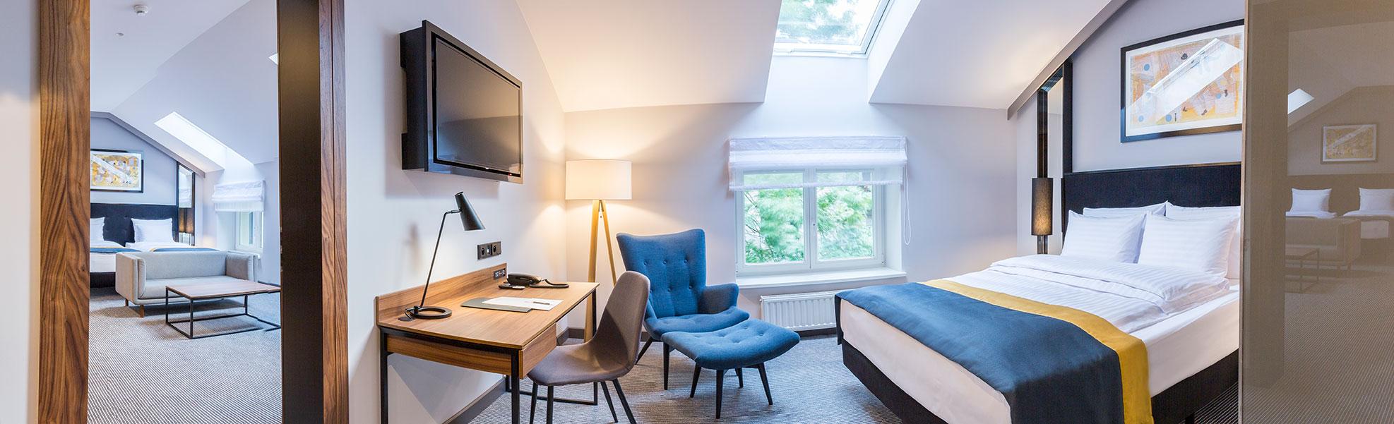 Wygodny i przestronny apartament w hotelu Grand Ascot w Krakowie