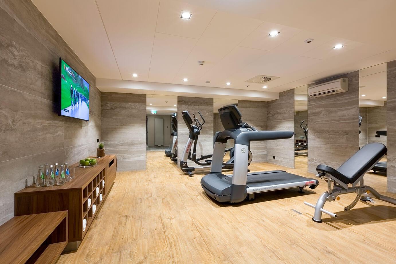 Strefa fitness w hotelu Grand Ascot w Krakowie