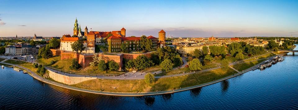 Panorama miasta Krakowa